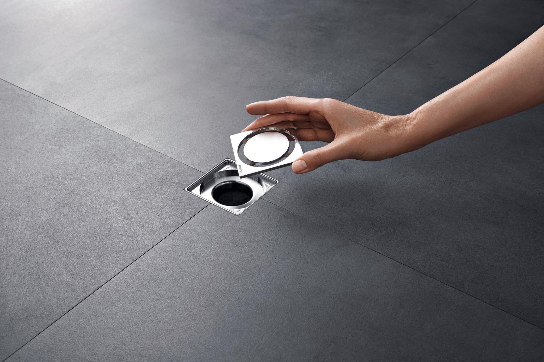 Kleine design vloerput van Geberit