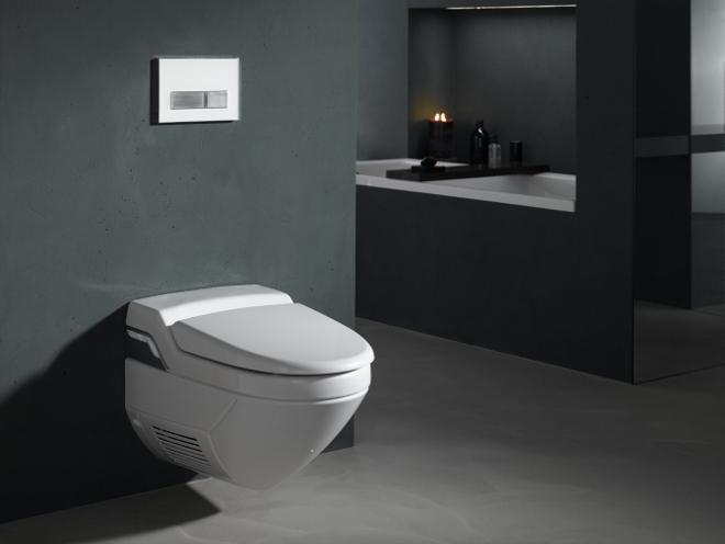 Geberit toilet domotica met douchewc, warme lucht en afstandsbediening