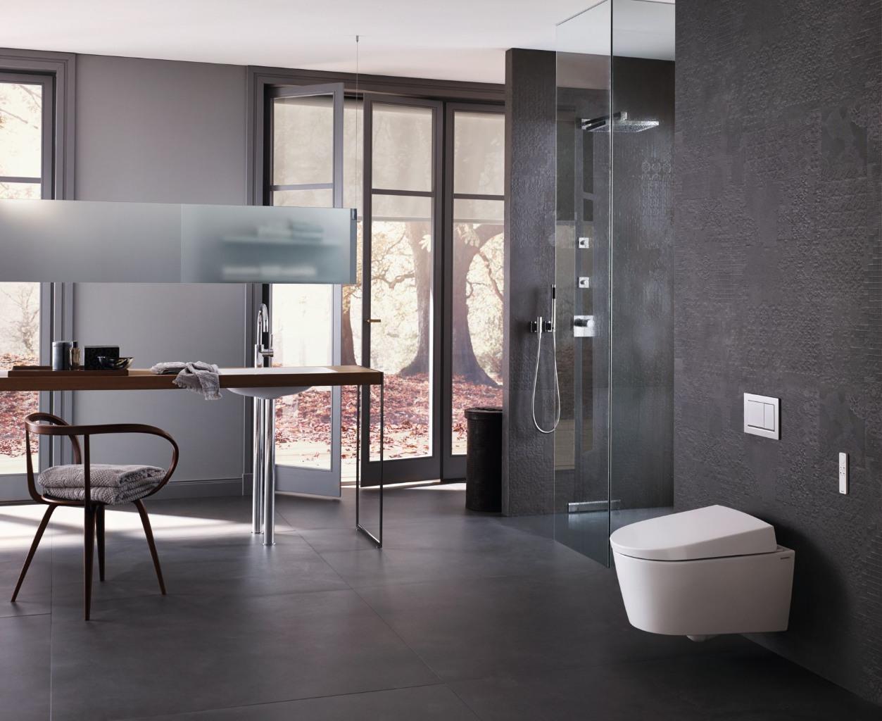 Badkamer met Geberit AquaClean en DuoFresh voor een fris toilet