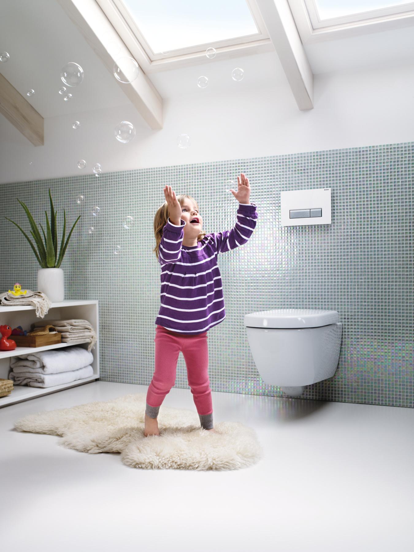 Met Geberit DuoFresh toiletsysteem hoeft stank op de wc niet meer te stinken.