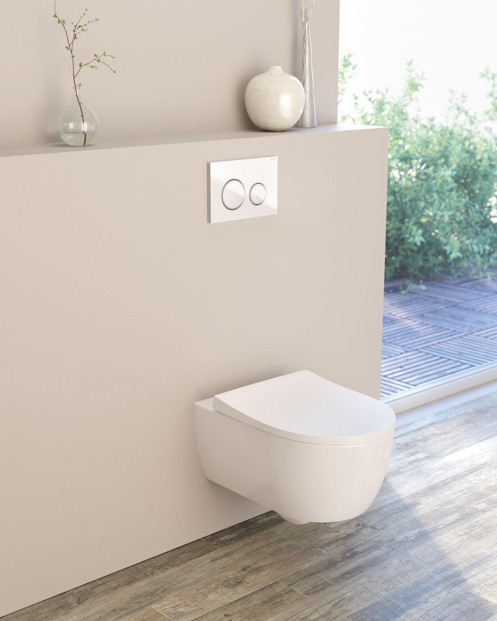 Geberit toilet met de nieuwste bedieningsplaat Sigma21 #toilet #badkamer #geberit
