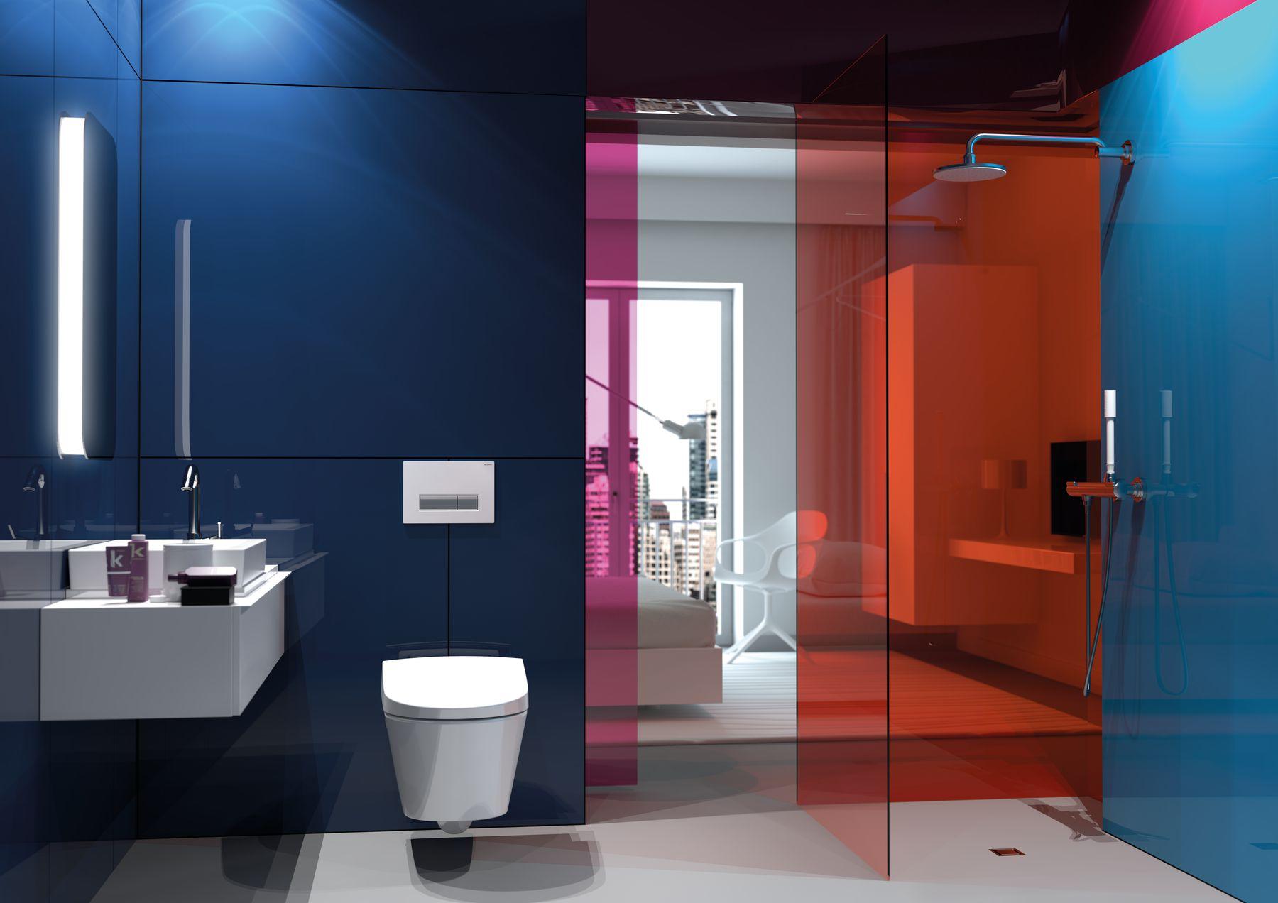 Waterbesparend spoelsysteem van Geberit - toilet Aquaclean Sela met spoelsysteem Sigma 40