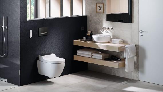 Geberit aquaclean toilet met douchewc #geberit #toilet #douchewc #badkamer
