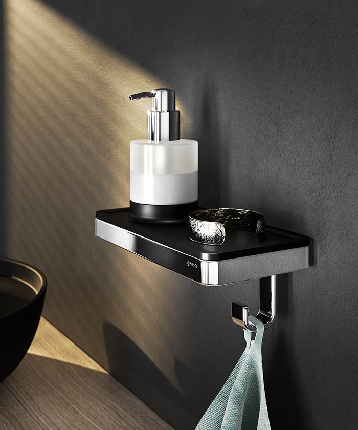 Geesa Frame planchet met handdoekhaak badkamer
