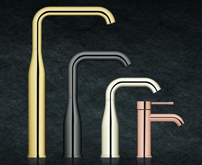Nieuwe kranen voor de badkamer Grohe Essence Colours #design #badkamer