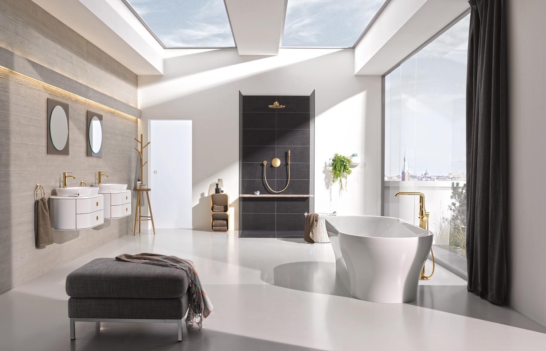 Trendy Kleuren Badkamer : Trendy badkamer met grohe kranen accessoires nieuws badkamer