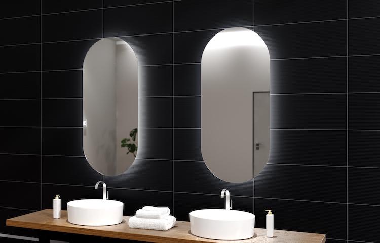 Badkamerspiegels in verschillende maten en vormen. Welke spiegel kies jij? via H&R badkamermeubelen en sanitair #spiegels #badkamerspiegels #badkamermeubels #badkamer #inspiratie