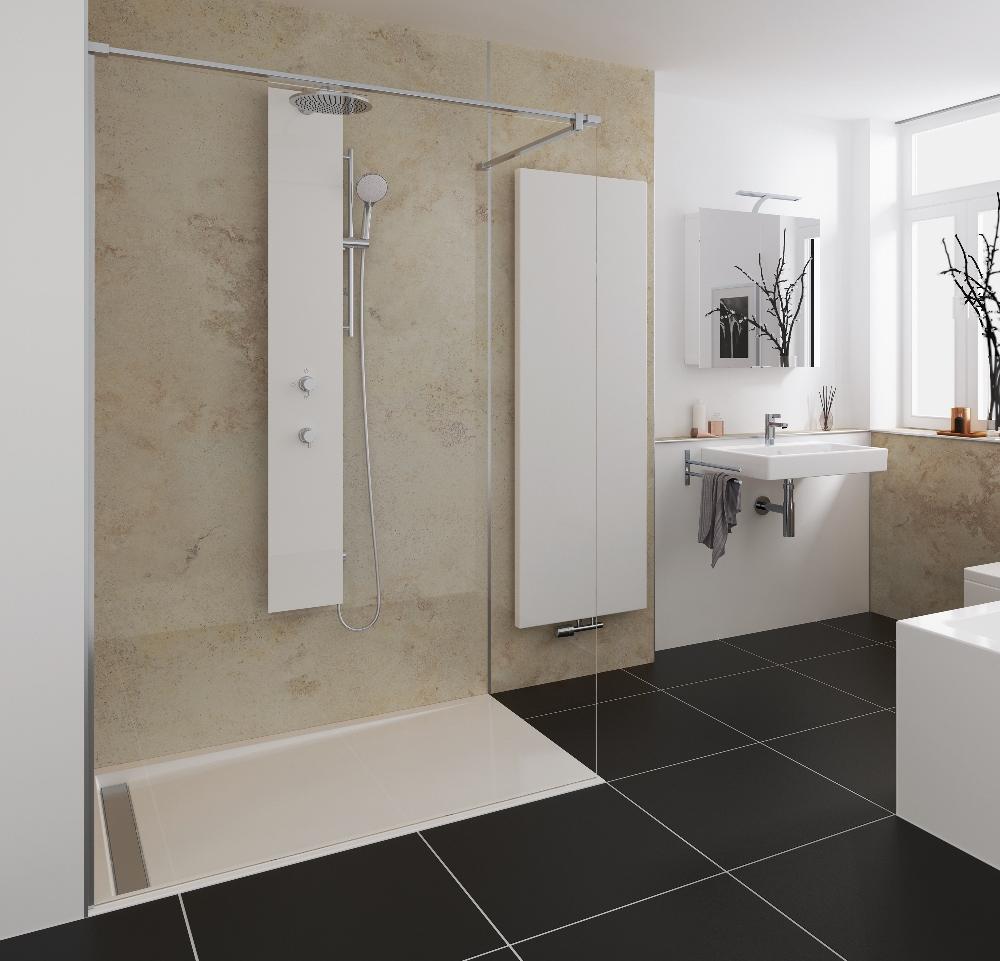 royaal douchen in iedere badkamer met het walk in pro concept