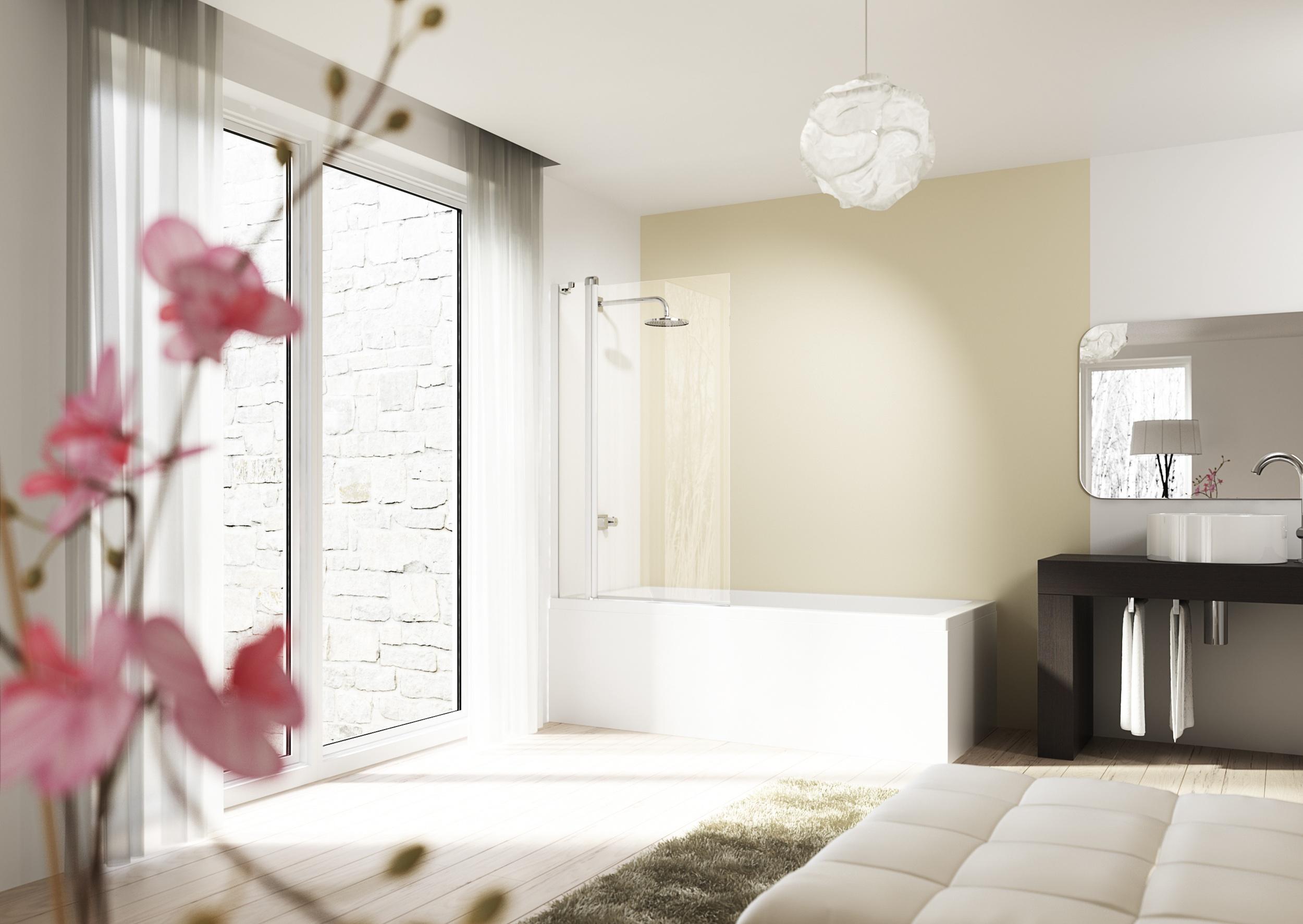 Van ligbad tot doucheruimte met de badwand van hÜppe nieuws