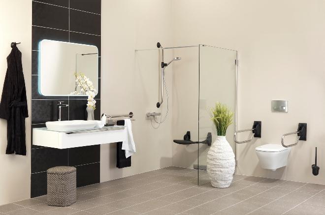 Badkamer aangepast sanitair Handicare