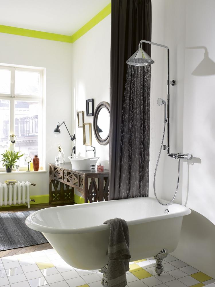Industriële look in klassieke badkamer - De Axor Front douchecollectie
