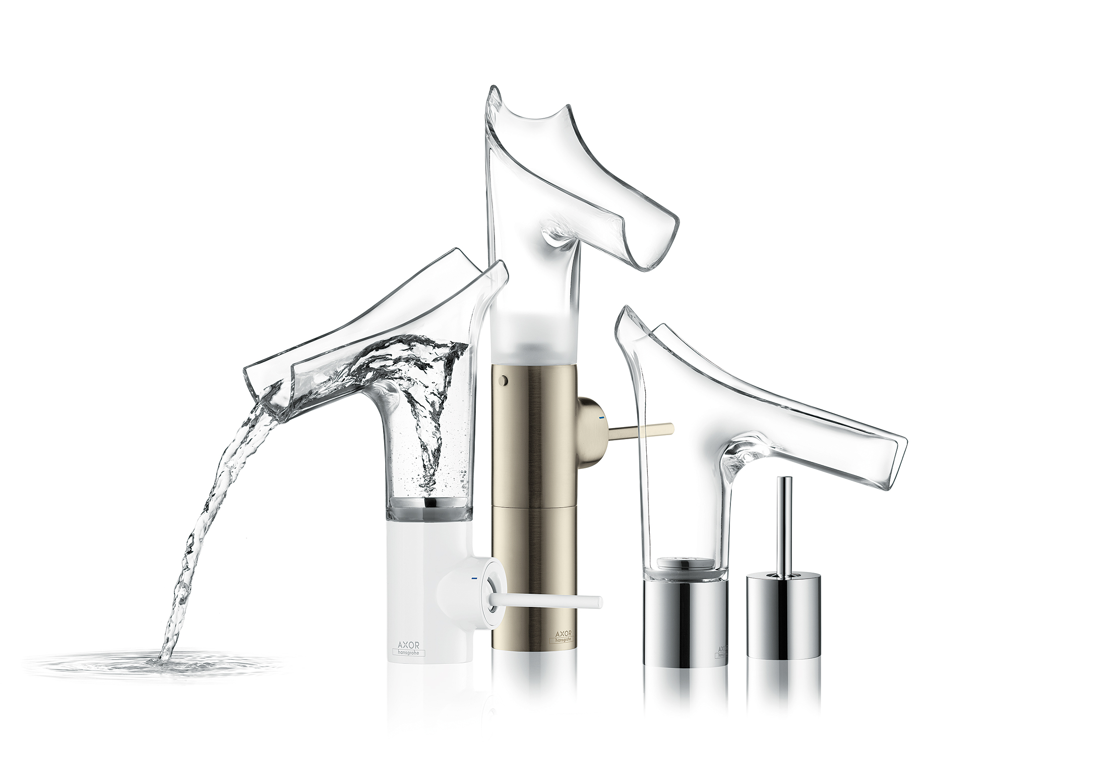 Glazen design wastafelmengkraan van Philippe Starck - Axor Starck V