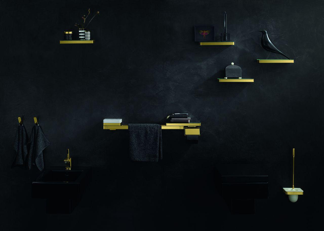 Planchetten en opbergsystemen voor de badkamer Axor Universal via Hansgrohe