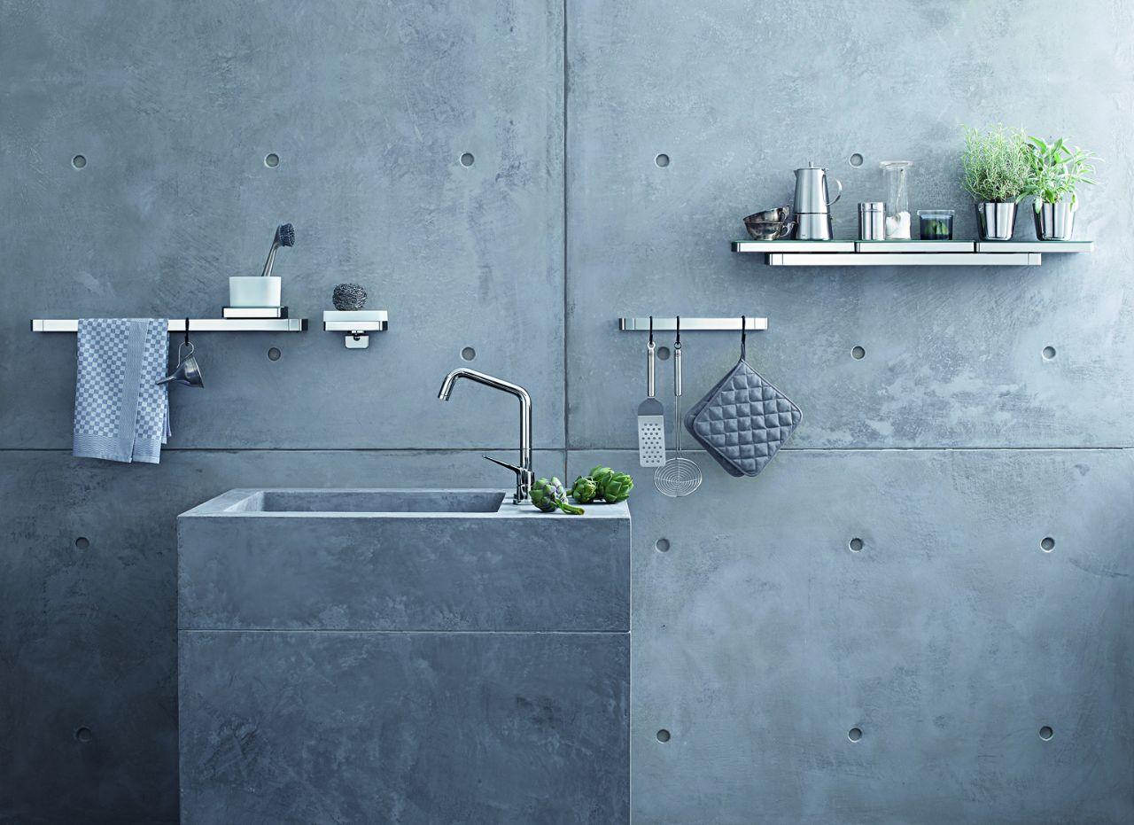 Axor Universal design planken- en accessoiresysteem voor de keuken