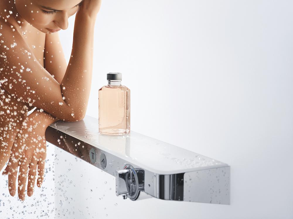 Hansgrohe planchet met thermostaat en douche
