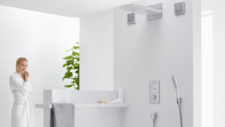 Hansgrohe Rainbrain douchebediening met touchscreen