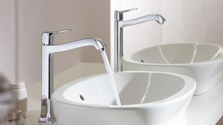 Hoge badkamerkraan voor waskom - Metris kraan van Hansgrohe