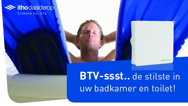Badkamer Ventilator Db ~ De stilste ventilator voor badkamer & toilet BTV ssst  Nieuws