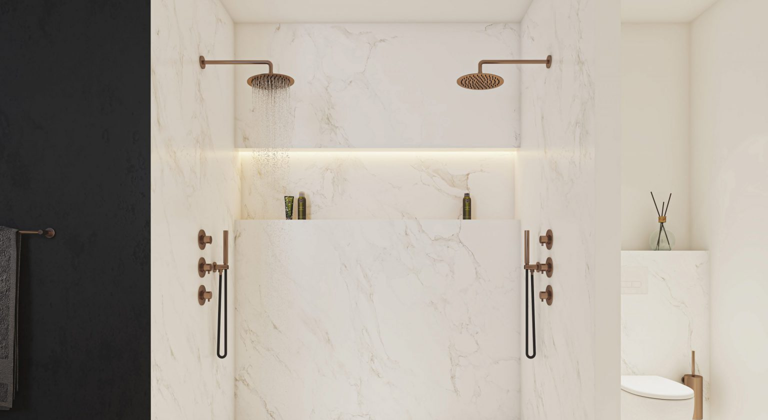 Voorbeelden van inloopdouches en douchecabines. Douches voor de nieuwe badkamer. Alles over douches en de badkamer verbouwen, vind je hier #douche #inloopdouche #badkamer #badkameridee #verbouwen #droombadkamer #jeeo