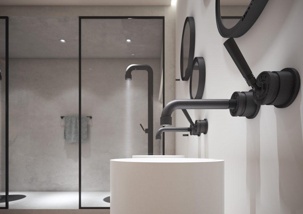 Badkamer Kraan Zwart.Zwarte Kranen En Douches Met Industriel Uw Badkamer Nl