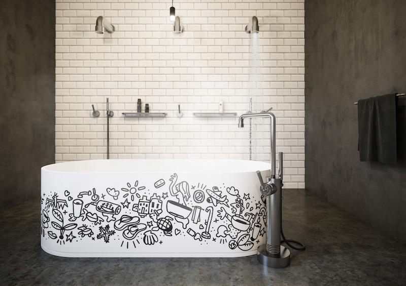 Badkamerinspiratie. Designdouches en kranen voor de badkamer soho RAW van JeeO #badkamerinspiratie #badkamer #designkranen #douche #jeeo