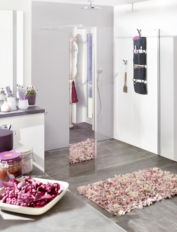 Kermi glazen douchewand en douchedeur met spiegel #kermi #douche #douchewand #badkamer #badkamerinspiratie