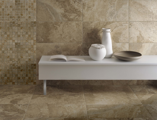 Badkamer Ideeen Natuursteen: Natuursteen badkamer.