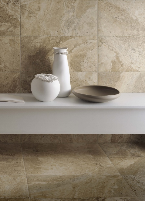 Badkamer badkamer tegels natuursteen look inspirerende foto 39 s en idee n van het interieur en - Badkamer keramische ...