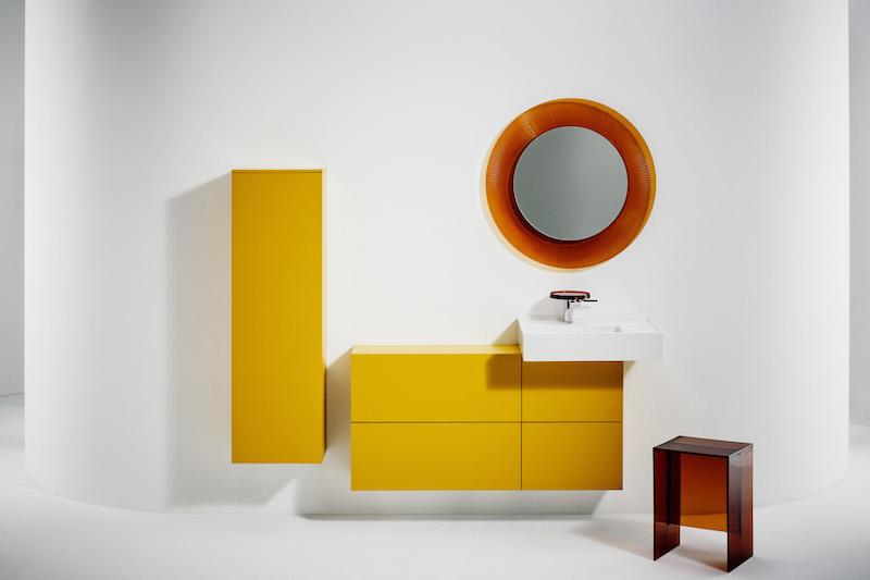 Badkamer design Kartell by Laufen #wastafel #spiegel #badkamer #badkamermeubel #saphirkeramiek #kartellbylaufen #design
