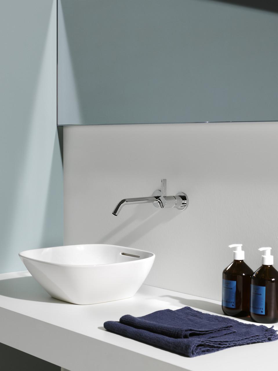 Wastafel uit de badkamercollectie Ino van Laufen #badkamer #badkamerinspiratie #laufen #wastafel