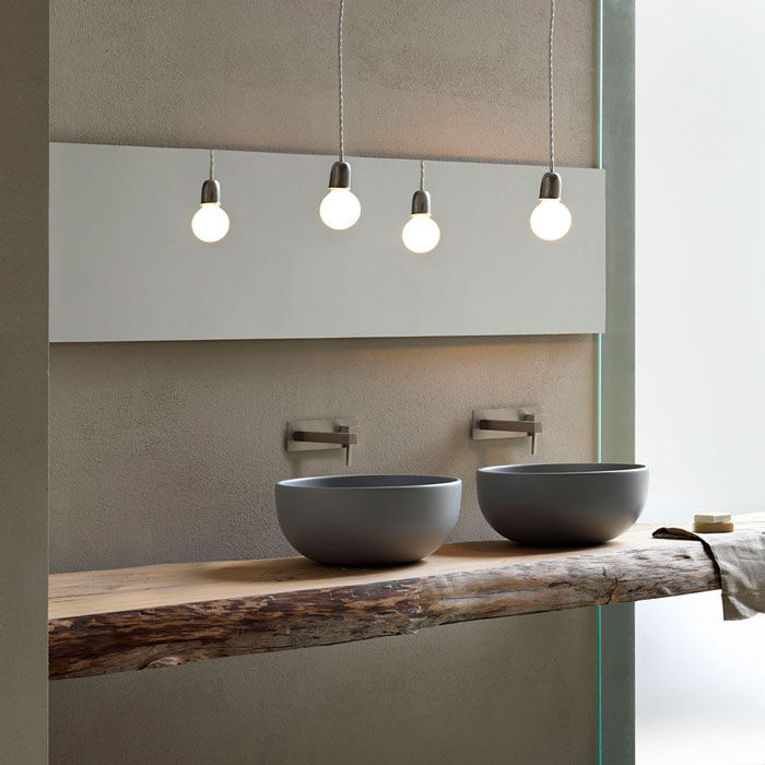 Stijlvol een houten wastafelblad met waskom nieuws startpagina voor badkamer idee n uw - Rustieke badkamer meubels ...