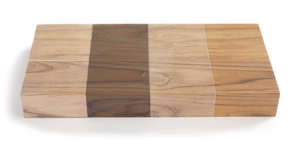 Houten wastafelblad in vier verschillende kleuren van Luca Wood via Luca Sanitair #hout #badkamer #wastafel #badkamerinspiratie