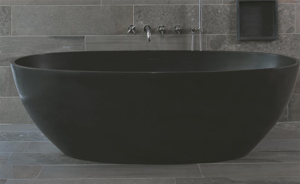 Prachtig mat zwart bad LUVA1893A van Luca Sanitair #madeinitalty #badkamertrends #badkamer