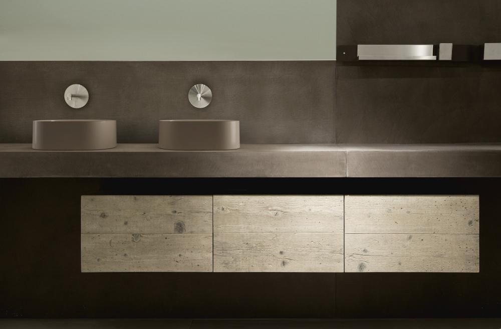 Opzetwastafel van keramiek - Italiaans design Galassia via Luca Sanitair