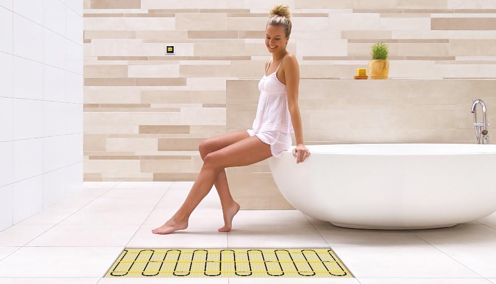 Elektrische vloerverwarming in de badkamer - matten van Magnum