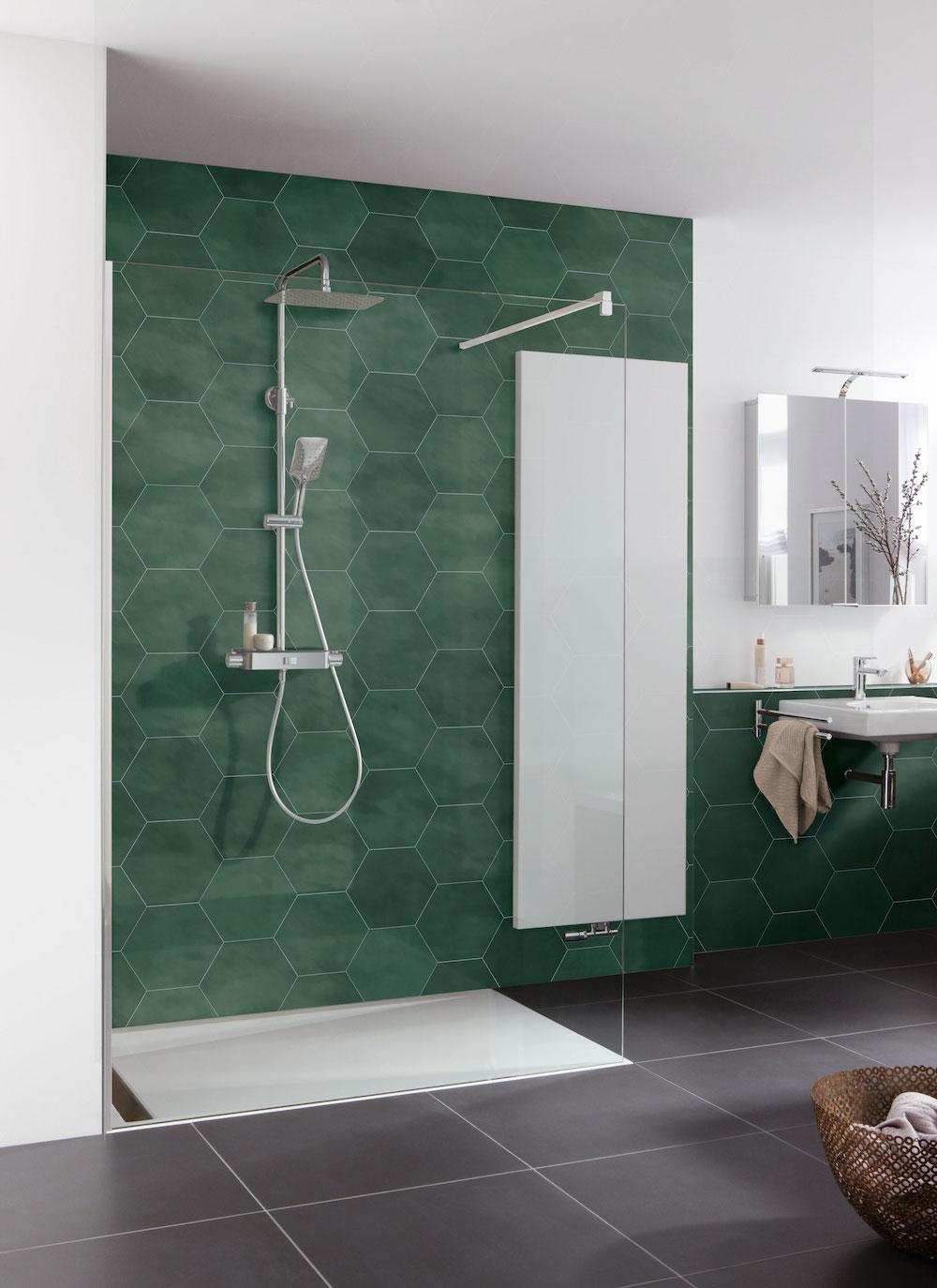 Duurzame en groene badkamer. mijn bad in stijl #badkamer #duurzaam #groen #badkamerinspiratie #badkameridee #inloopdouche #douche