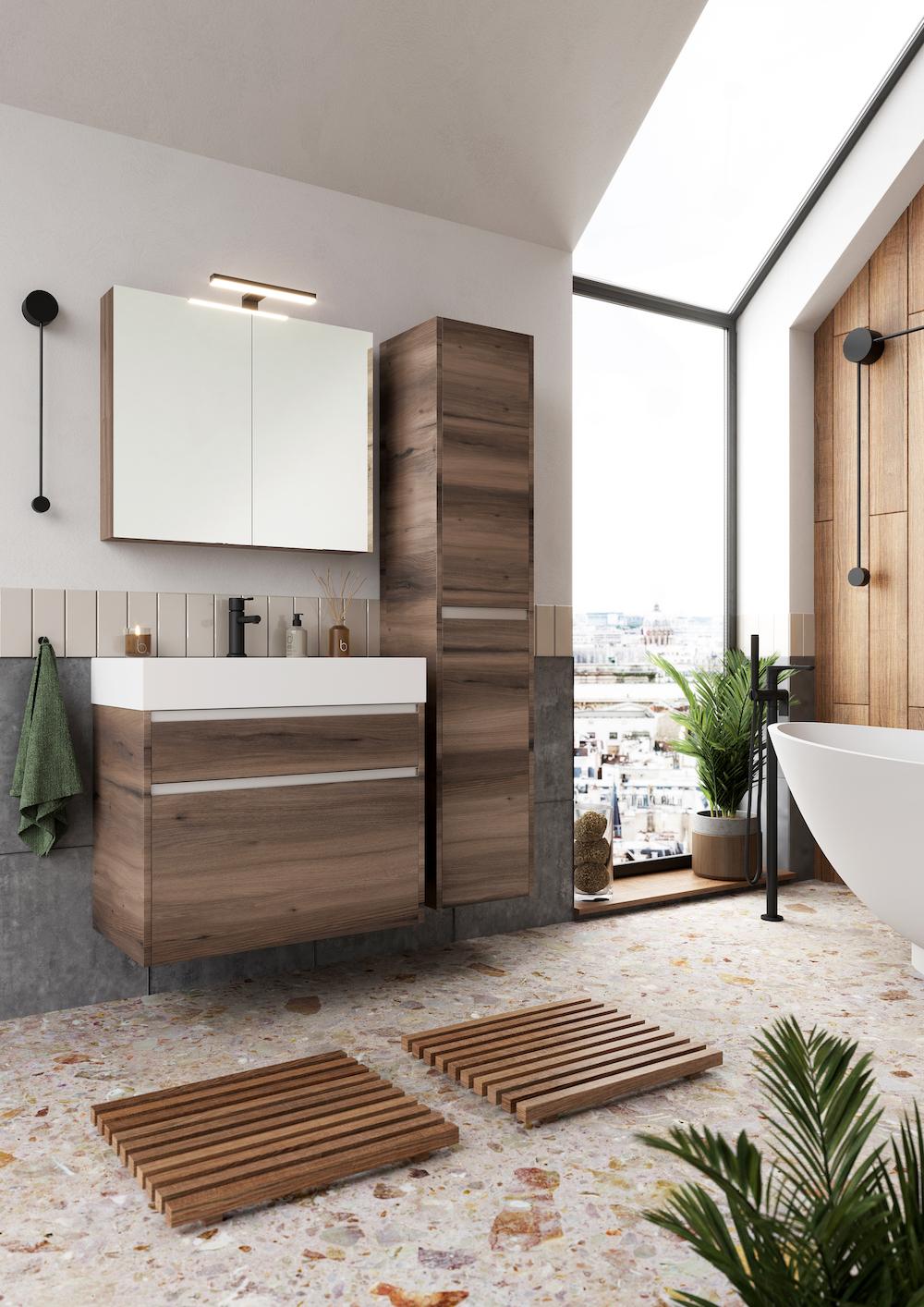 Duurzame en groene badkamer. mijn bad in stijl #badkamer #duurzaam #hout #badkamermeubel #badkamerinspiratie #badkameridee