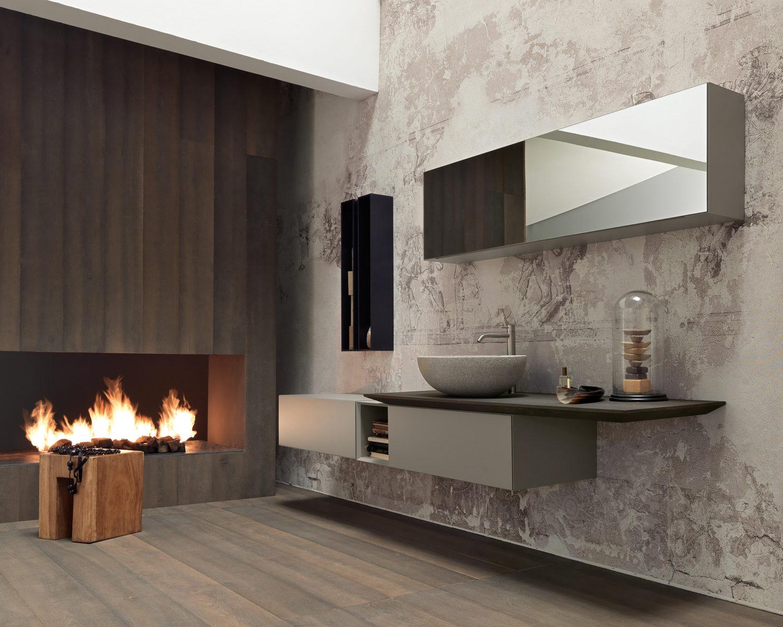 Italiaanse badkamer met design badkamermeubel Infinity van Modulnova #badkamer #badkamerinspiratie #modulnova #badkamermeubel #madeinitaly #design