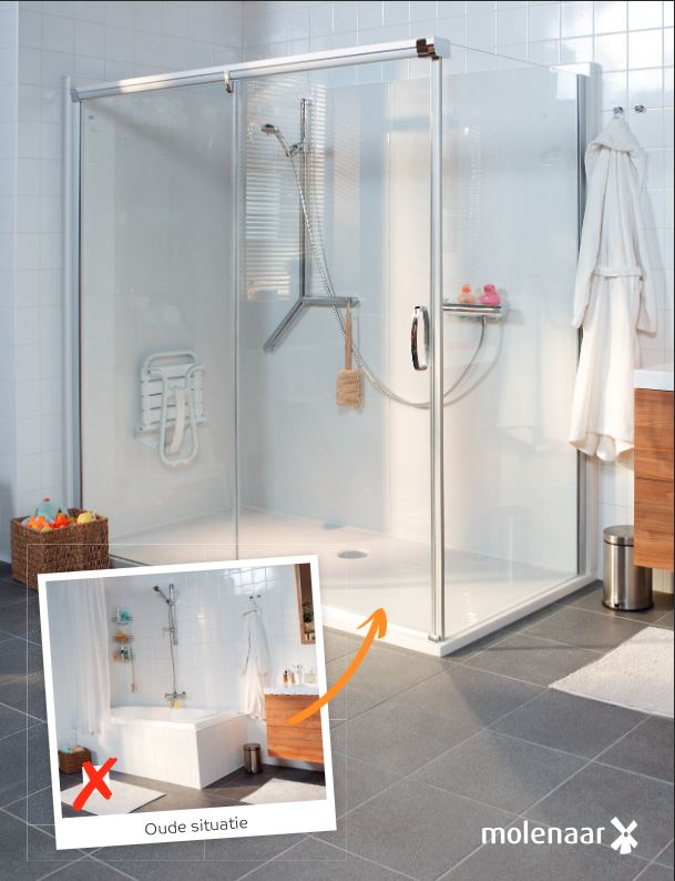 Van bad naar veilige comfort douchecabine in 1 dag nieuws startpagina voor badkamer idee n - Badkamer met italiaanse douche en bad ...