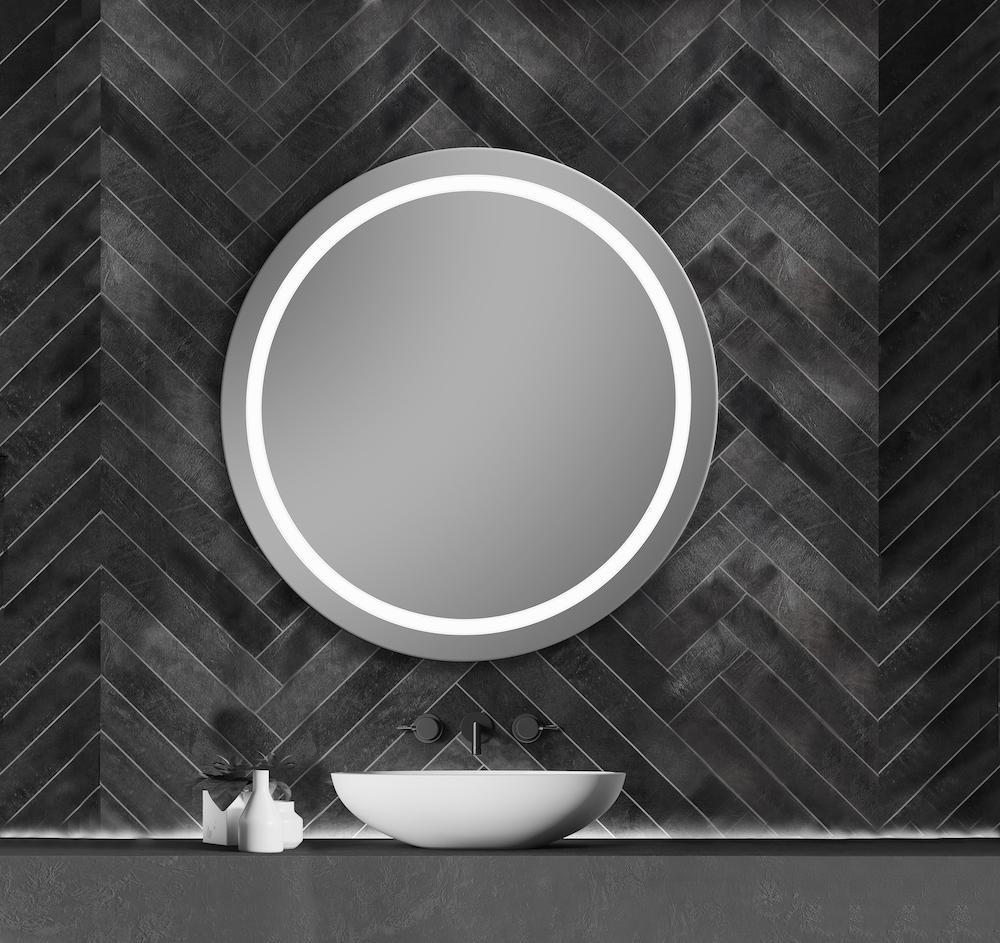 Ronde spiegel badkamer Dune. H&R badmeubelen en sanitair #spiegel #badkamer #badkamerspiegel #spiegelverwarming #ledverlichting #hrbadmeubelen