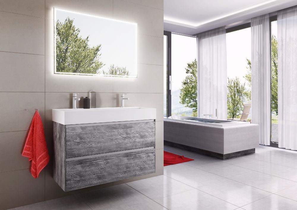 badkamermeubel met veel opbergruimte: Square XXL van H&R Badmeubelen
