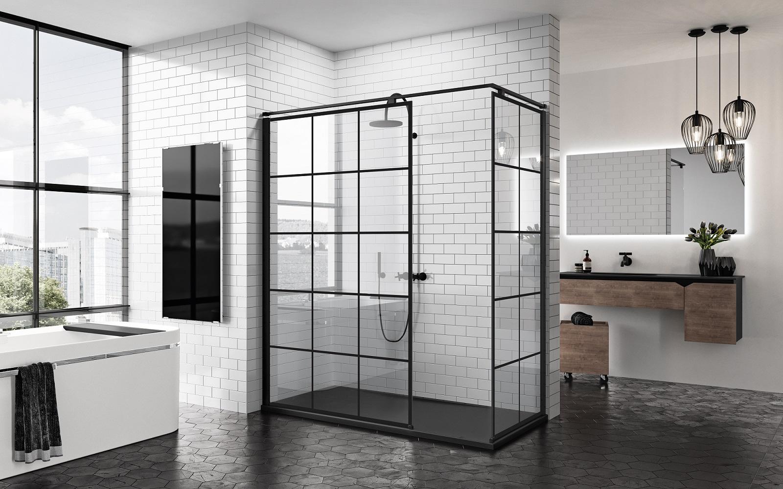 Zwart in de badkamer: douchewanden met industriële look - Nieuws ...