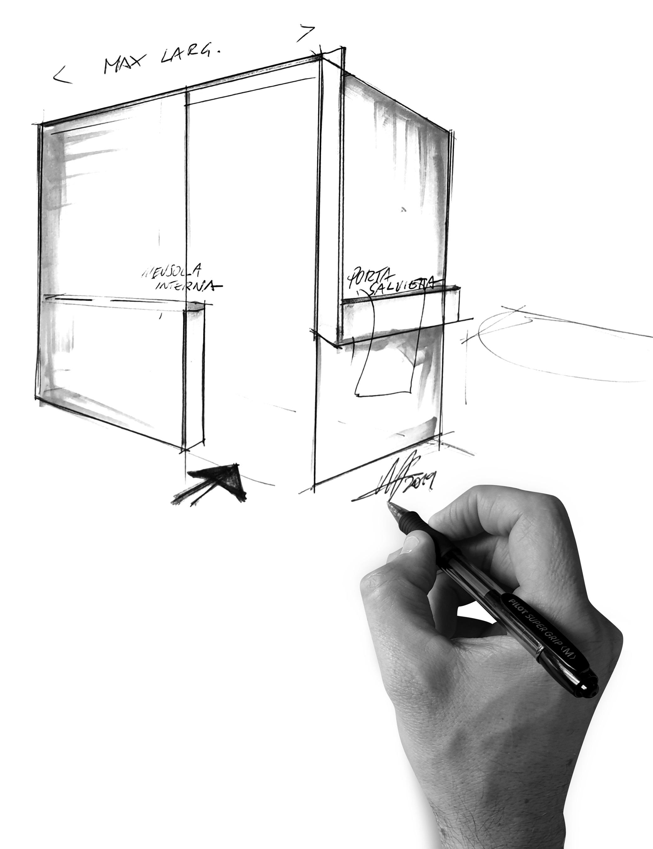 Inloopdouche ontwerp Kuadra H Frame - Novellini