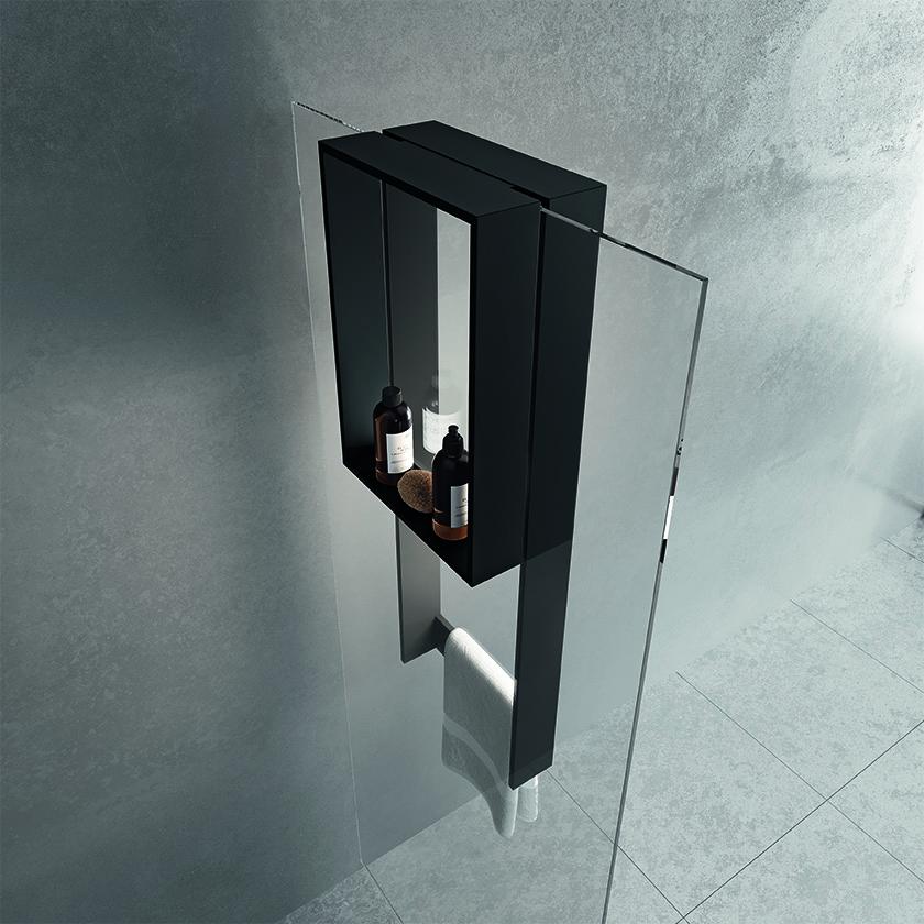Inloopdouche ophangrek Frame voor aan de douchewand van Novellini