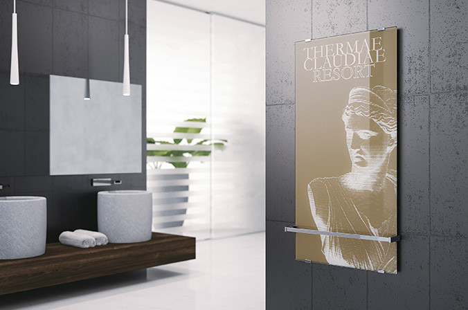Blikvanger! Glazen douchewanden met print van Novelllini - Nieuws ...