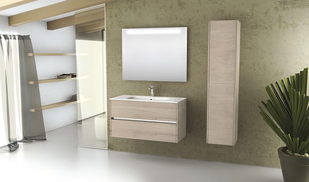 Novellini badkamermeubel Slot met hoge wandkast. Ook met bijpassende wasmachinekast Space #badkamer #badkamerideeën