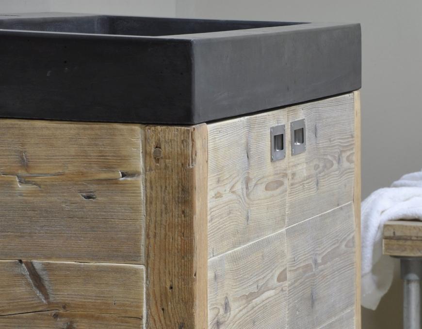 Badkamermeubel Met Vloerdelen : Badkamermeubels van sloophout nieuws startpagina voor badkamer