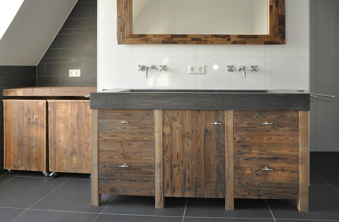 Badkamer Hout Natuursteen : Badkamermeubels van sloophout nieuws startpagina voor badkamer