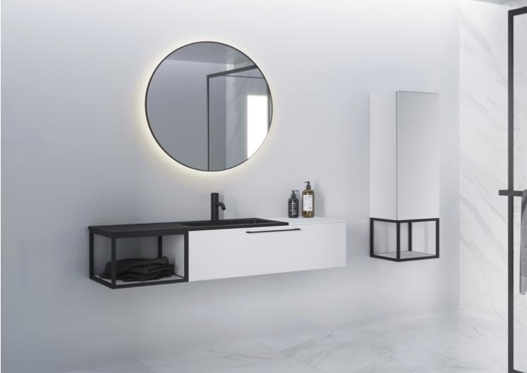 Livit badkamermeubel met open frame #badkamermeubel #livit #riho