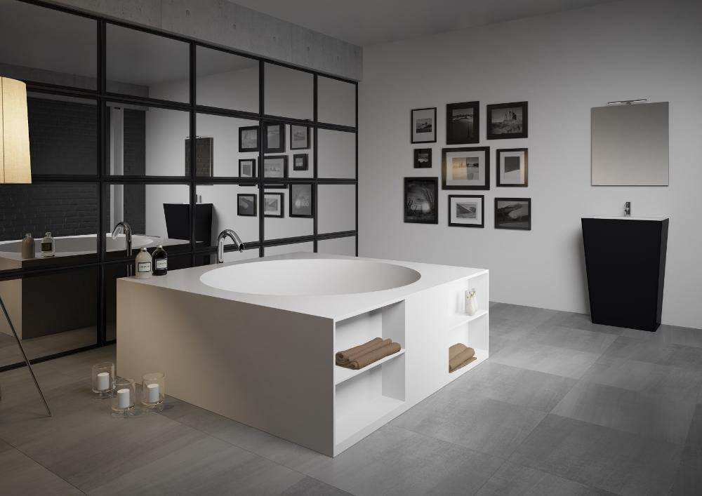 Vrijstaand bad van Solid Surface met opbergruimte - Tarragona van RIHO